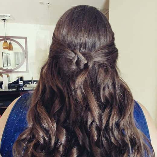 Celtic Knot hairstyle for prom